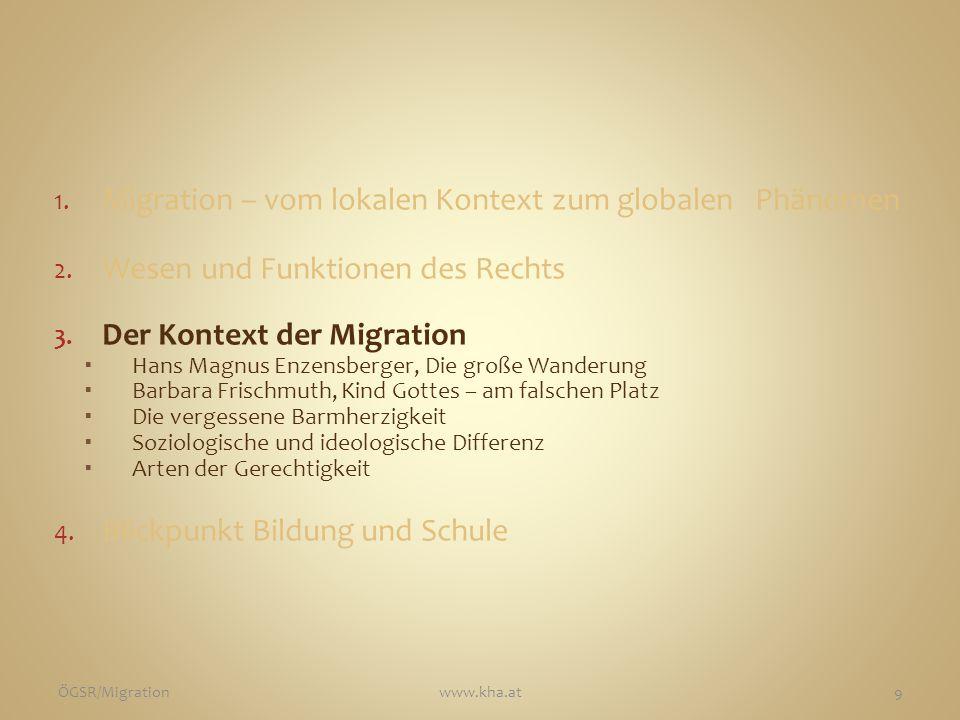 Migration – vom lokalen Kontext zum globalen Phänomen