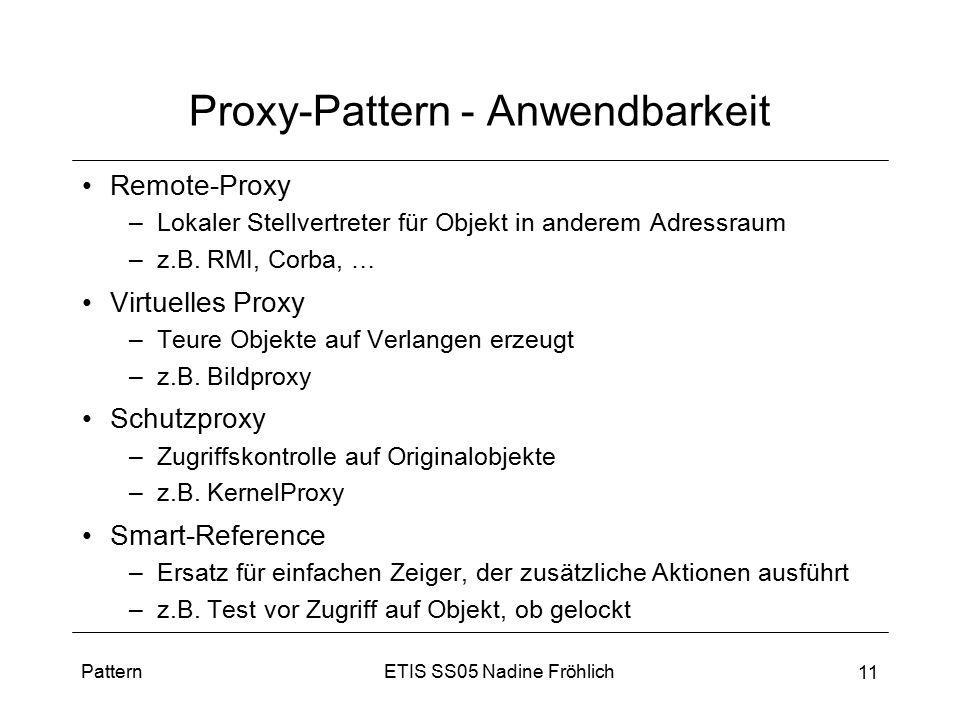 Proxy-Pattern - Anwendbarkeit