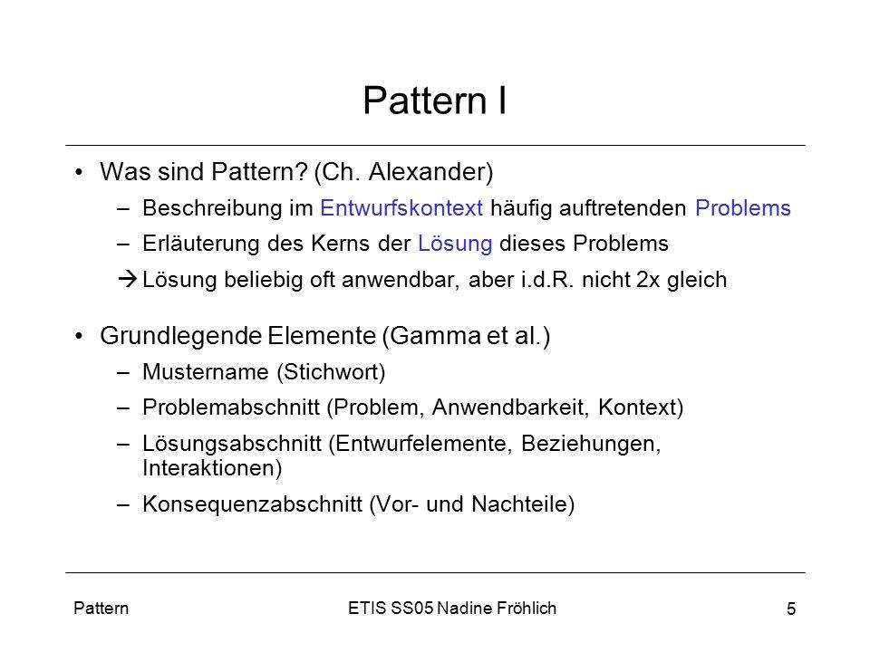 Pattern I Was sind Pattern (Ch. Alexander)