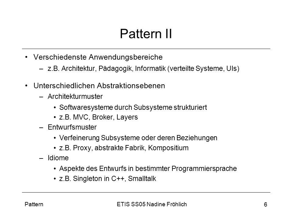 Pattern II Verschiedenste Anwendungsbereiche