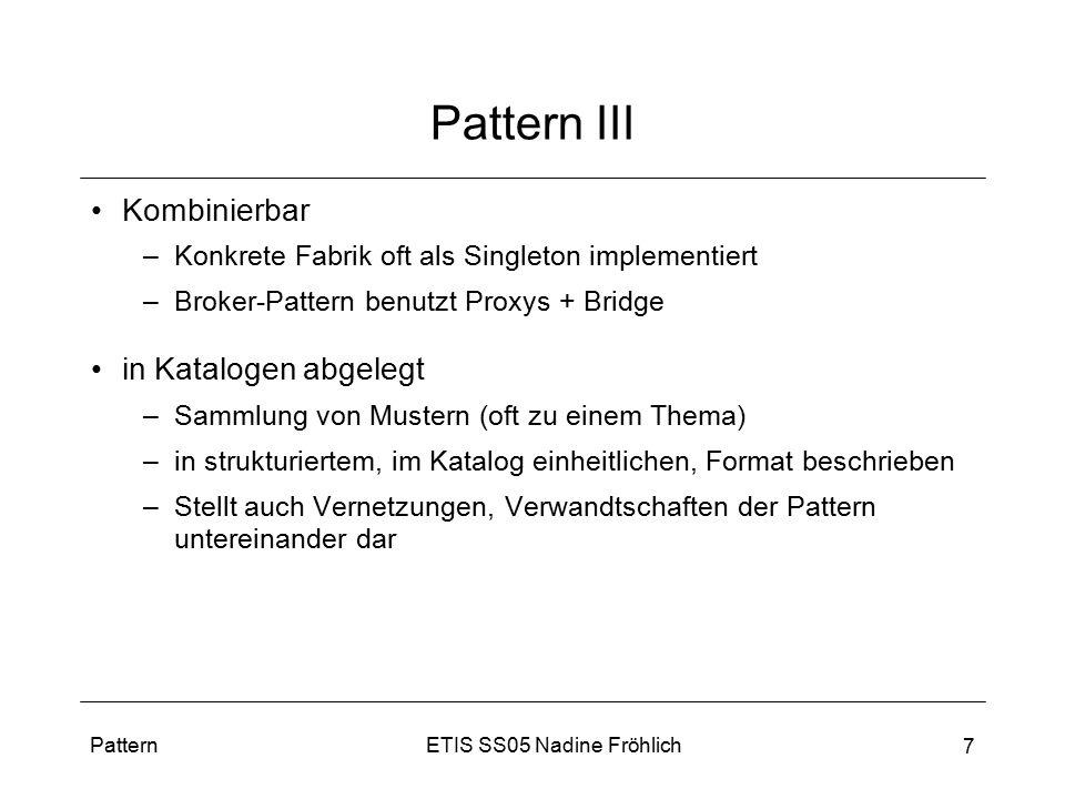 Pattern III Kombinierbar in Katalogen abgelegt