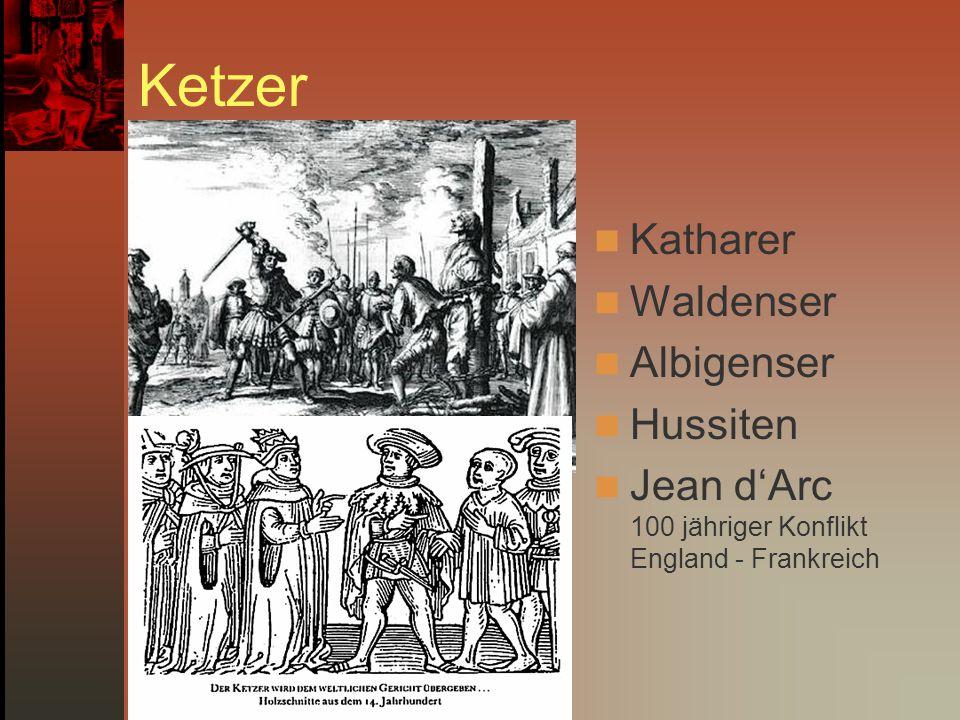 Ketzer Katharer Waldenser Albigenser Hussiten