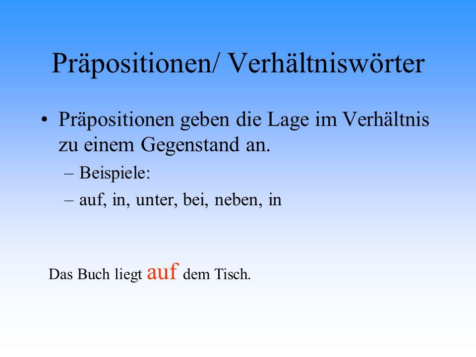 Präpositionen/ Verhältniswörter