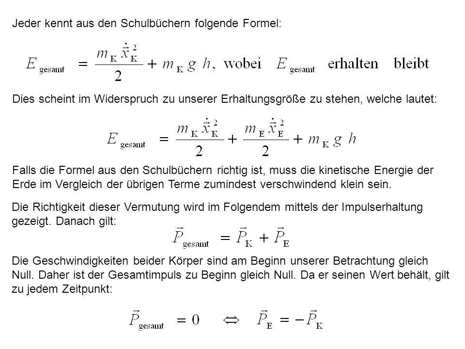 Jeder kennt aus den Schulbüchern folgende Formel: