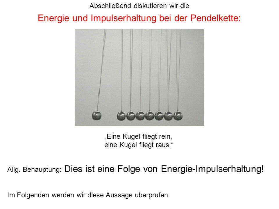 Energie und Impulserhaltung bei der Pendelkette: