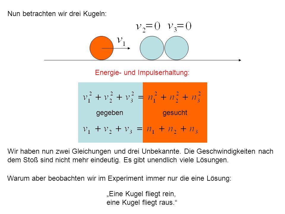 Energie- und Impulserhaltung: