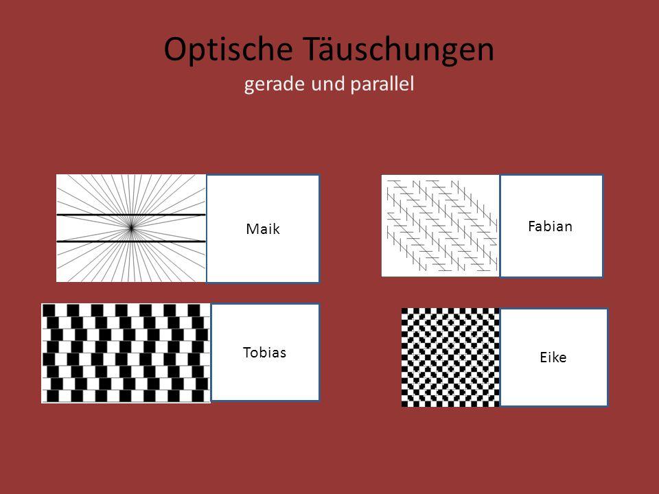 Optische Täuschungen gerade und parallel