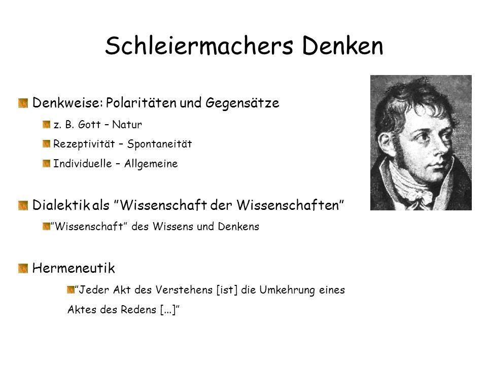 Schleiermachers Denken
