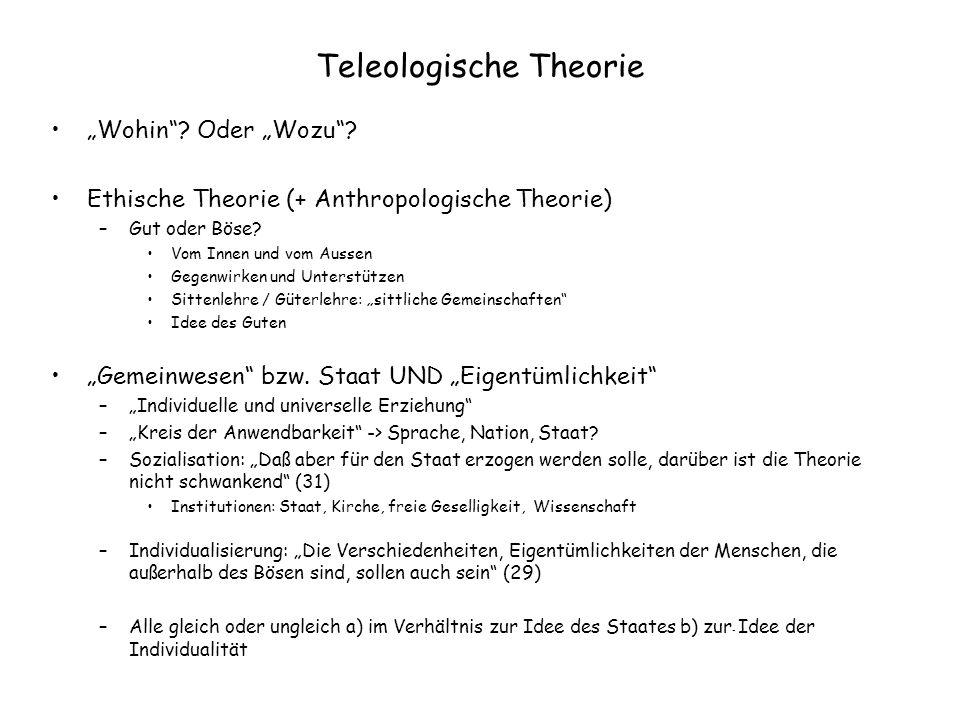 Teleologische Theorie