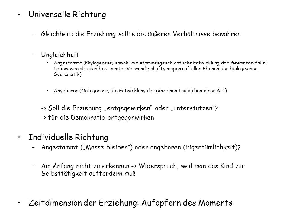Individuelle Richtung