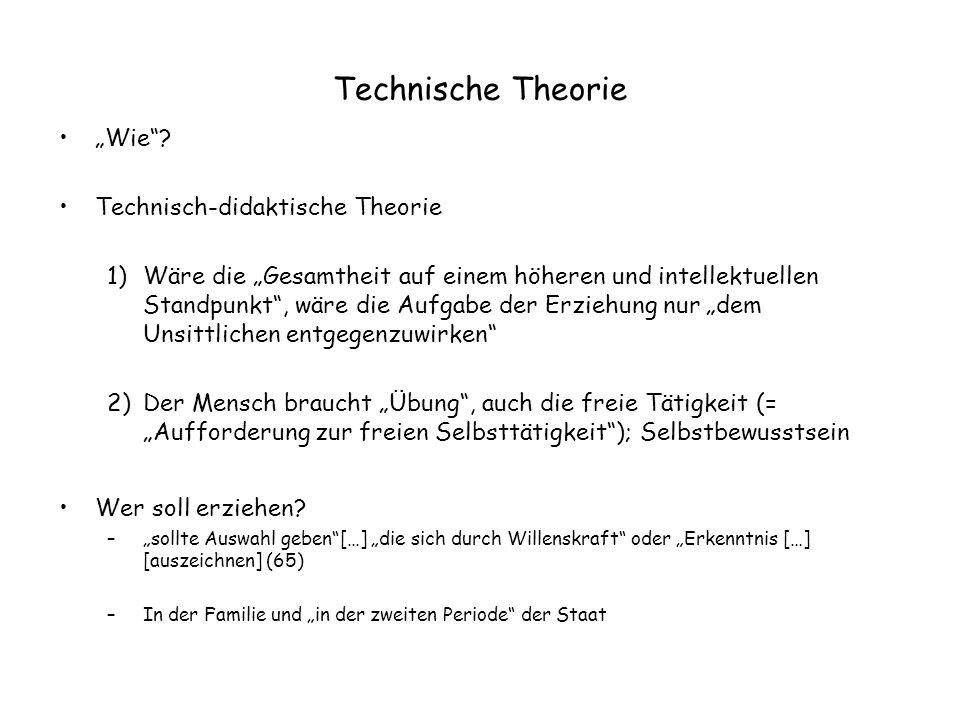 """Technische Theorie """"Wie Technisch-didaktische Theorie"""