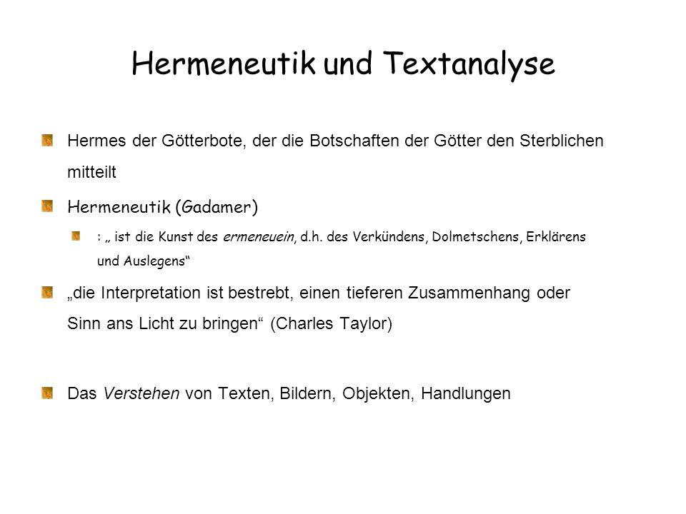 Hermeneutik und Textanalyse