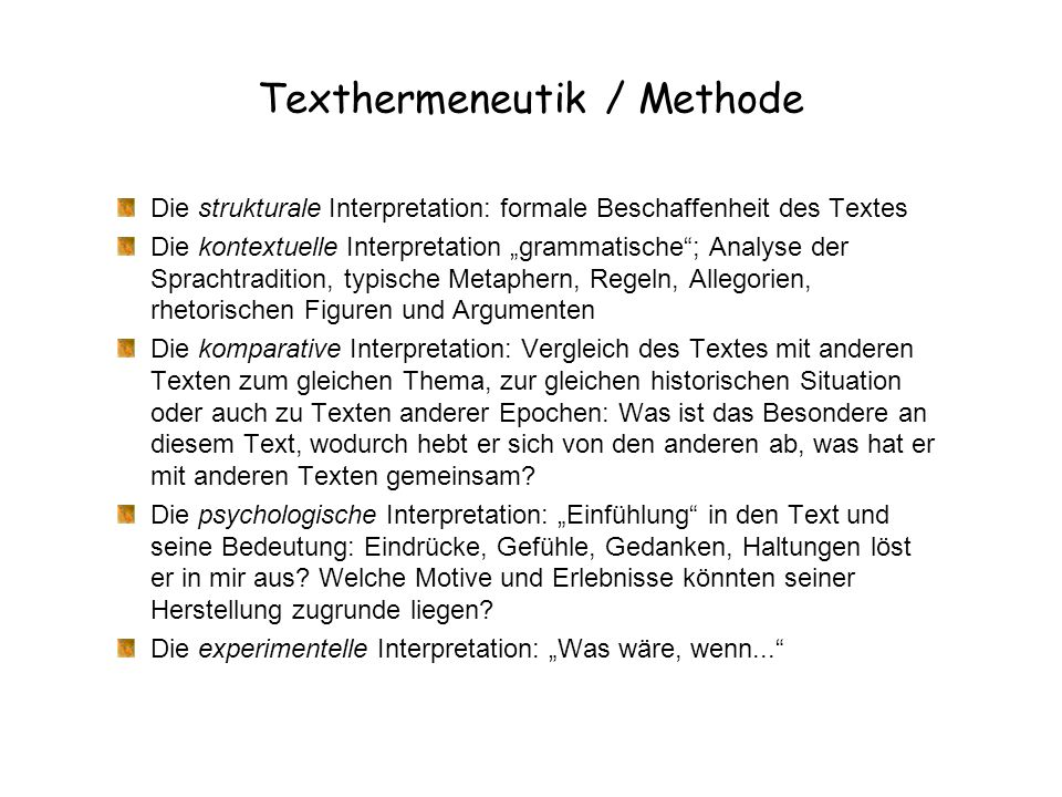 Texthermeneutik / Methode