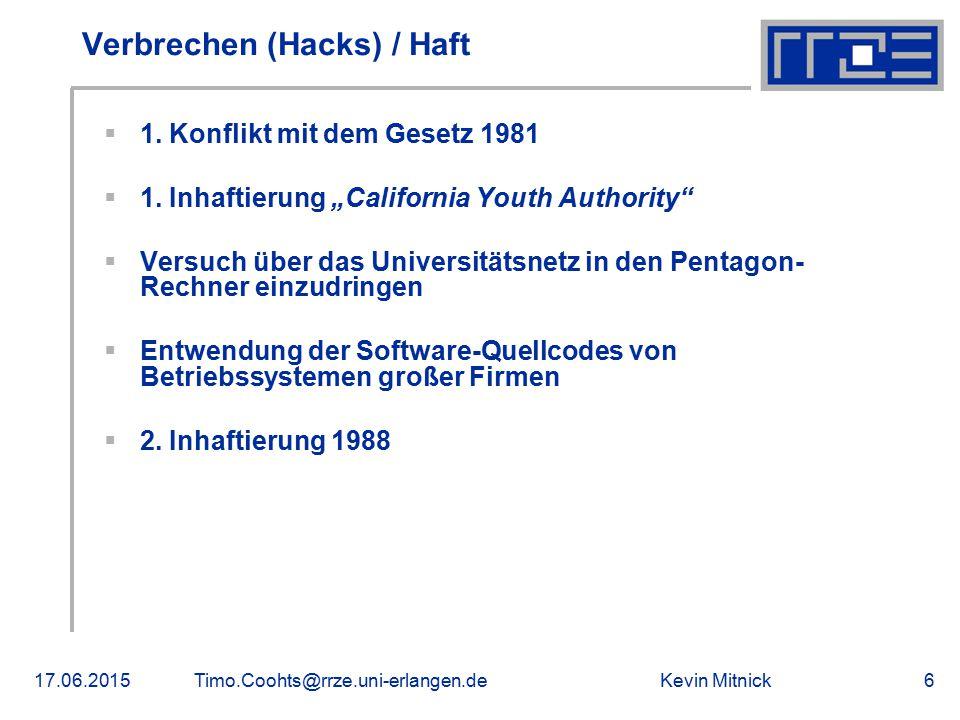Verbrechen (Hacks) / Haft