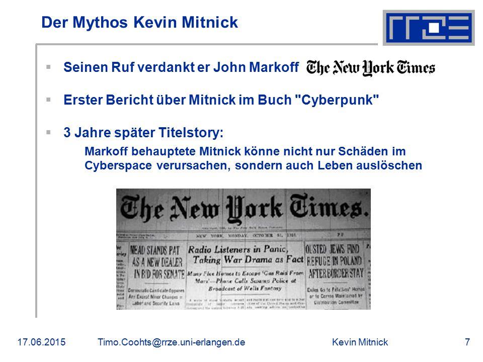 Der Mythos Kevin Mitnick