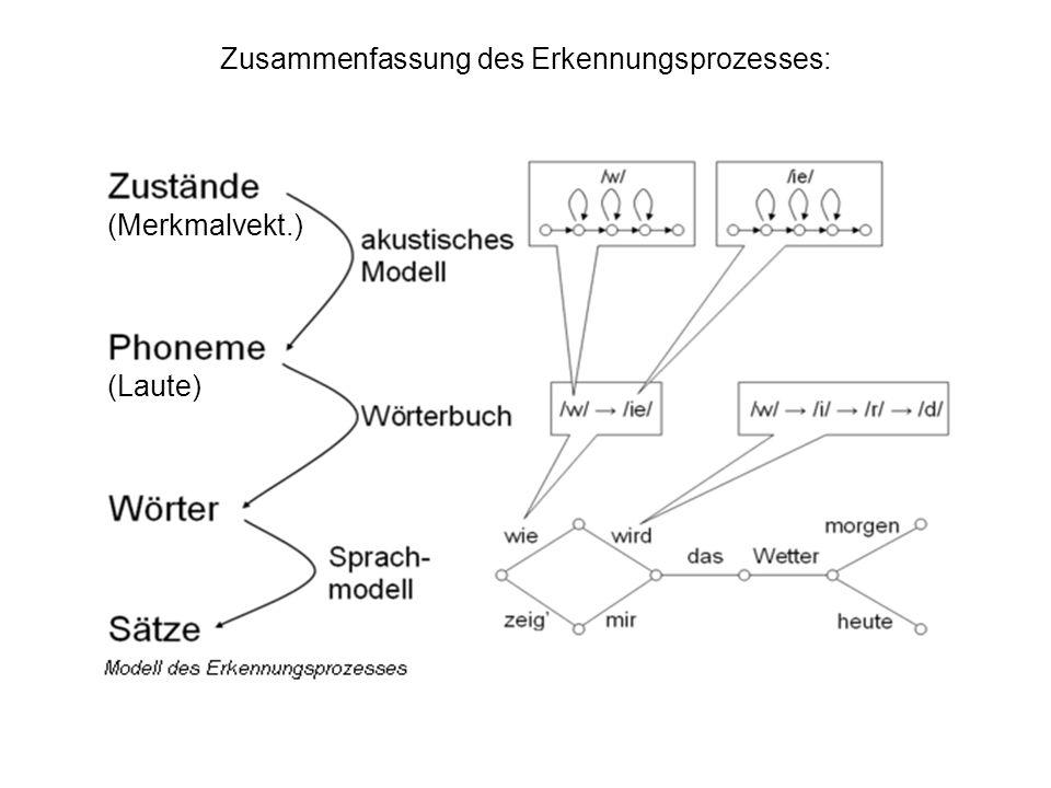 Zusammenfassung des Erkennungsprozesses: