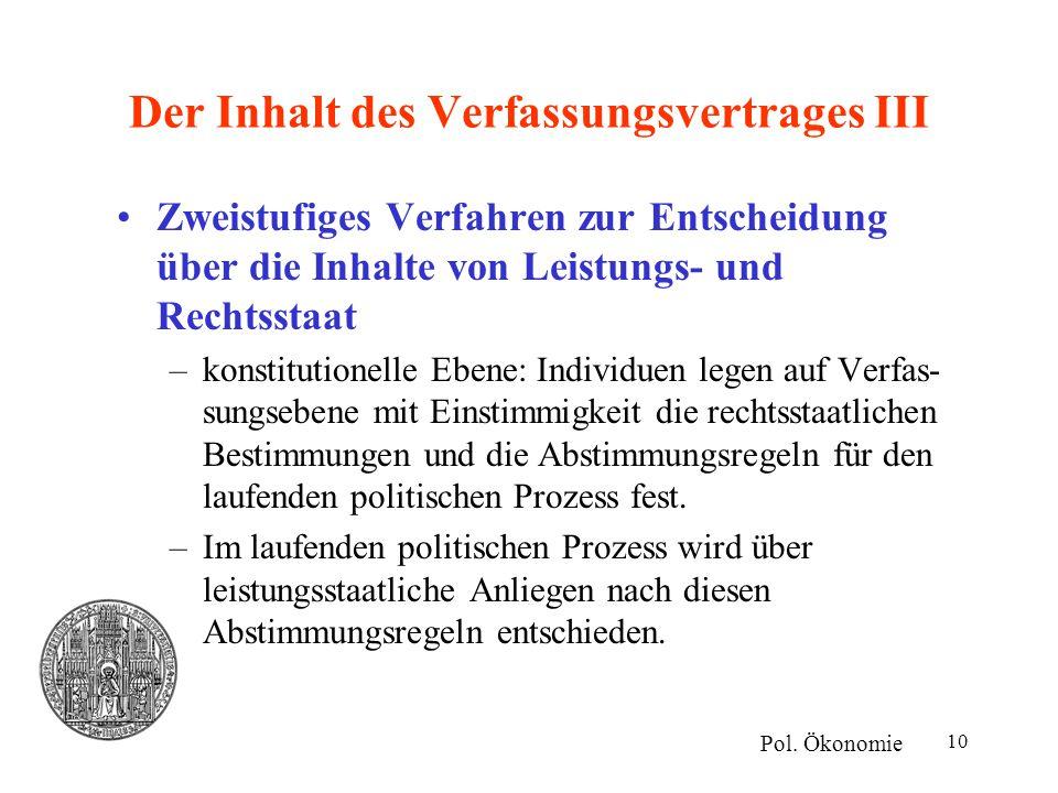 Der Inhalt des Verfassungsvertrages III