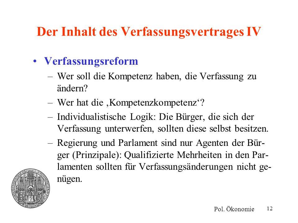 Der Inhalt des Verfassungsvertrages IV