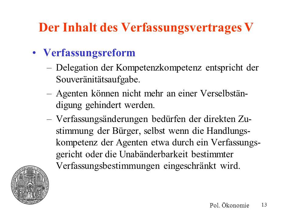 Der Inhalt des Verfassungsvertrages V