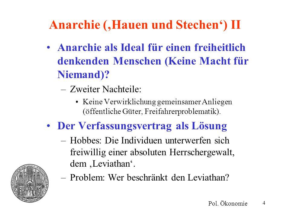 Anarchie ('Hauen und Stechen') II