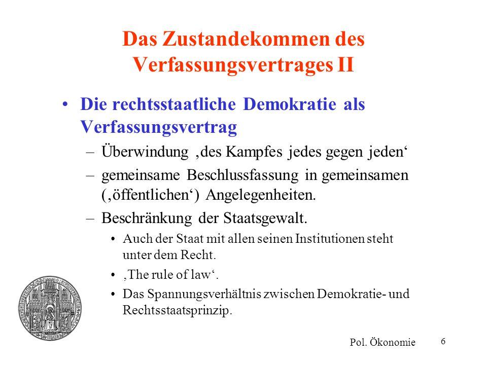 Das Zustandekommen des Verfassungsvertrages II