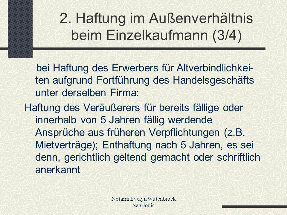 2. Haftung im Außenverhältnis beim Einzelkaufmann (3/4)