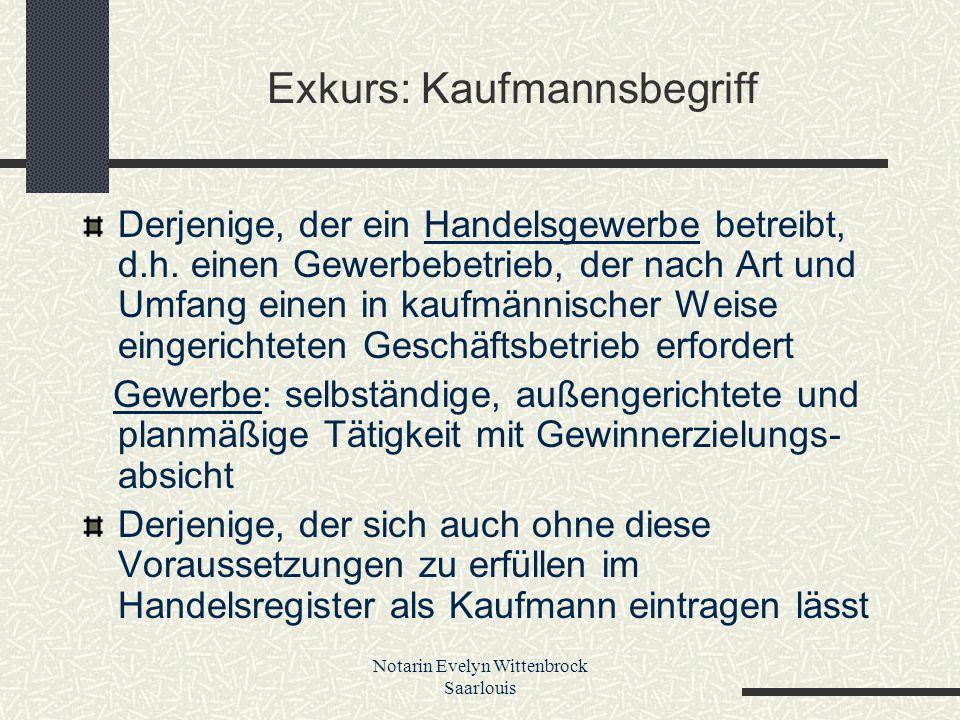 Exkurs: Kaufmannsbegriff