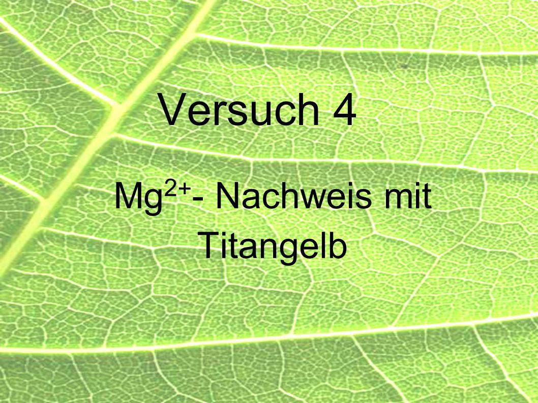 Mg2+- Nachweis mit Titangelb