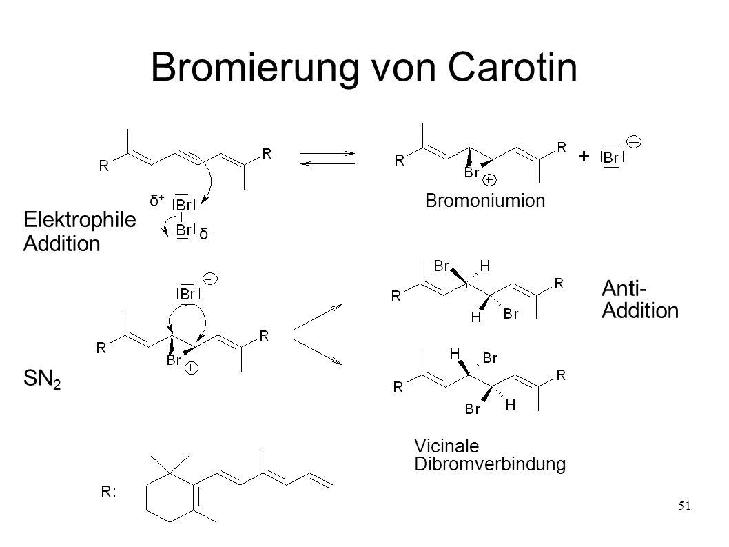 Bromierung von Carotin