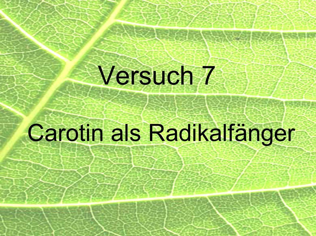 Carotin als Radikalfänger