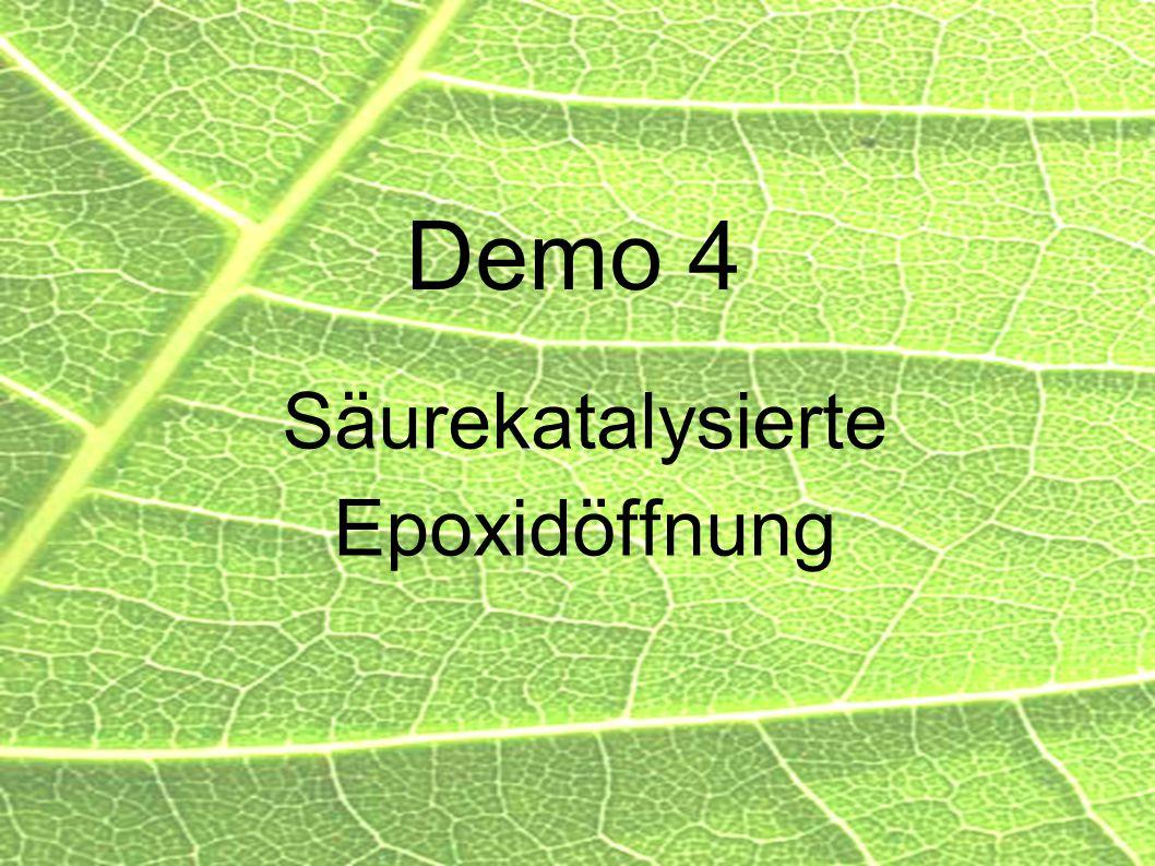Säurekatalysierte Epoxidöffnung