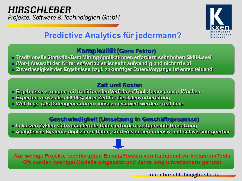 Predictive Analytics für jedermann