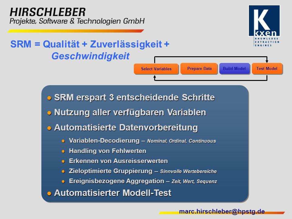 SRM = Qualität + Zuverlässigkeit + Geschwindigkeit