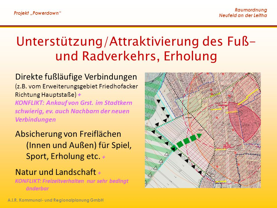 Unterstützung/Attraktivierung des Fuß- und Radverkehrs, Erholung