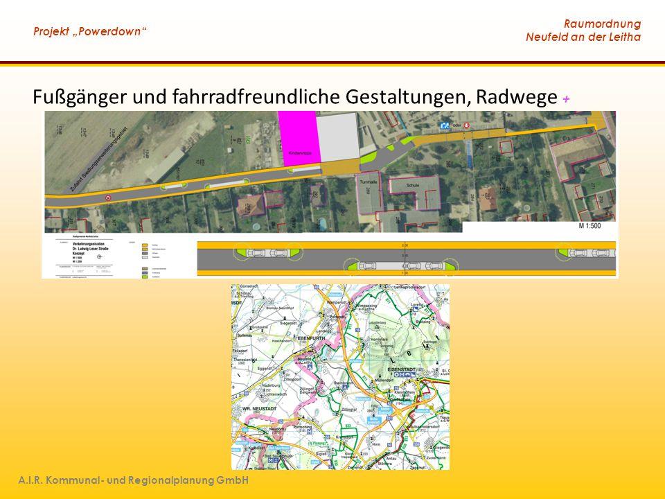 Fußgänger und fahrradfreundliche Gestaltungen, Radwege +