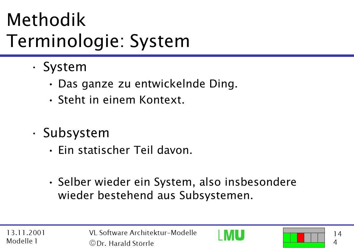 Methodik Terminologie: System