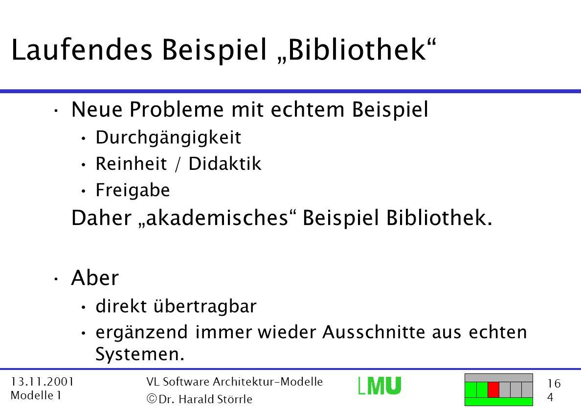 """Laufendes Beispiel """"Bibliothek"""