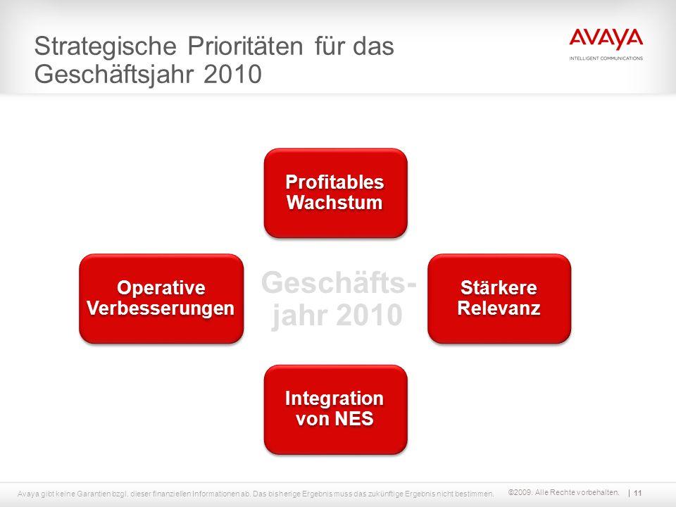 Strategische Prioritäten für das Geschäftsjahr 2010