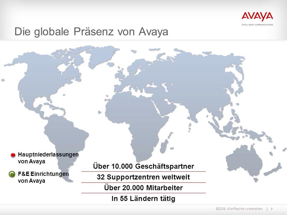 Die globale Präsenz von Avaya