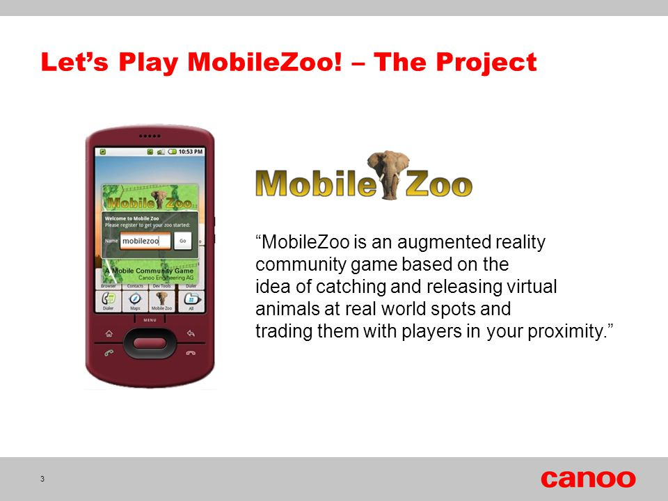 Let's Play MobileZoo! – The Project
