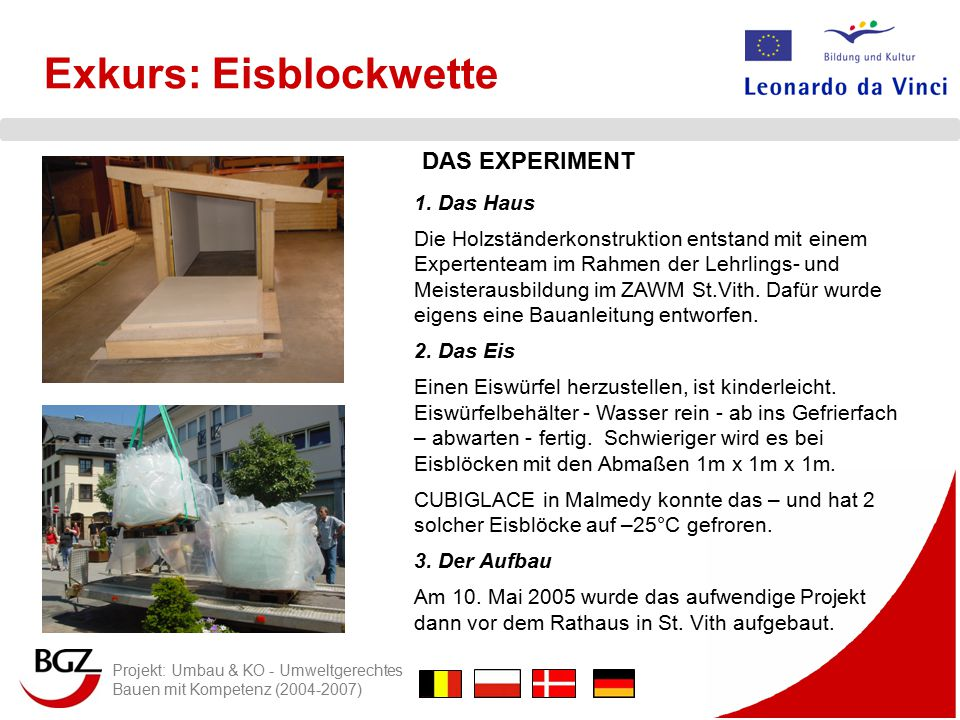 Exkurs: Eisblockwette