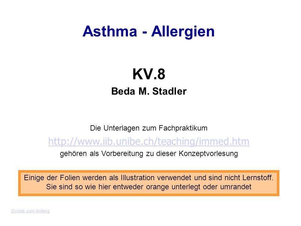 Asthma - Allergien KV.8 Beda M. Stadler