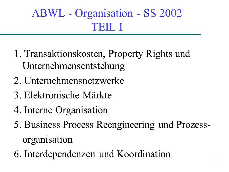 ABWL - Organisation - SS 2002 TEIL I