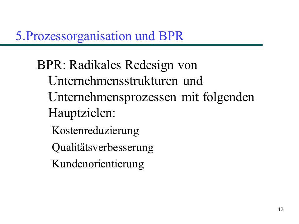 5.Prozessorganisation und BPR