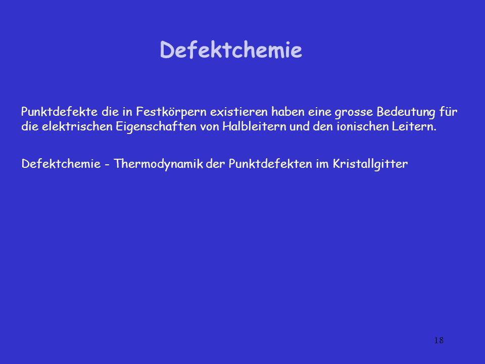 Defektchemie