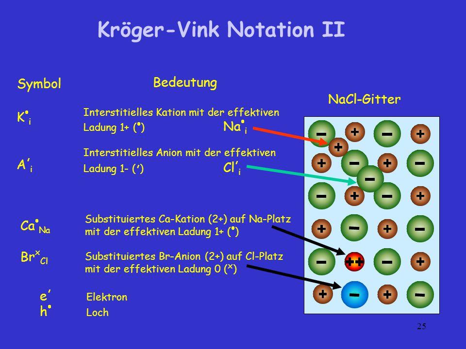 Kröger-Vink Notation II