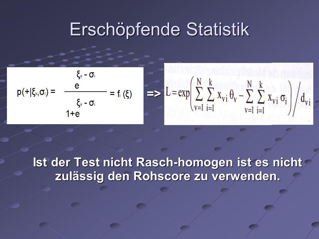 Erschöpfende Statistik