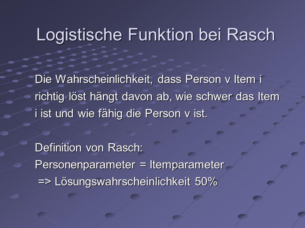 Logistische Funktion bei Rasch
