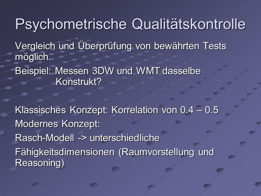 Psychometrische Qualitätskontrolle