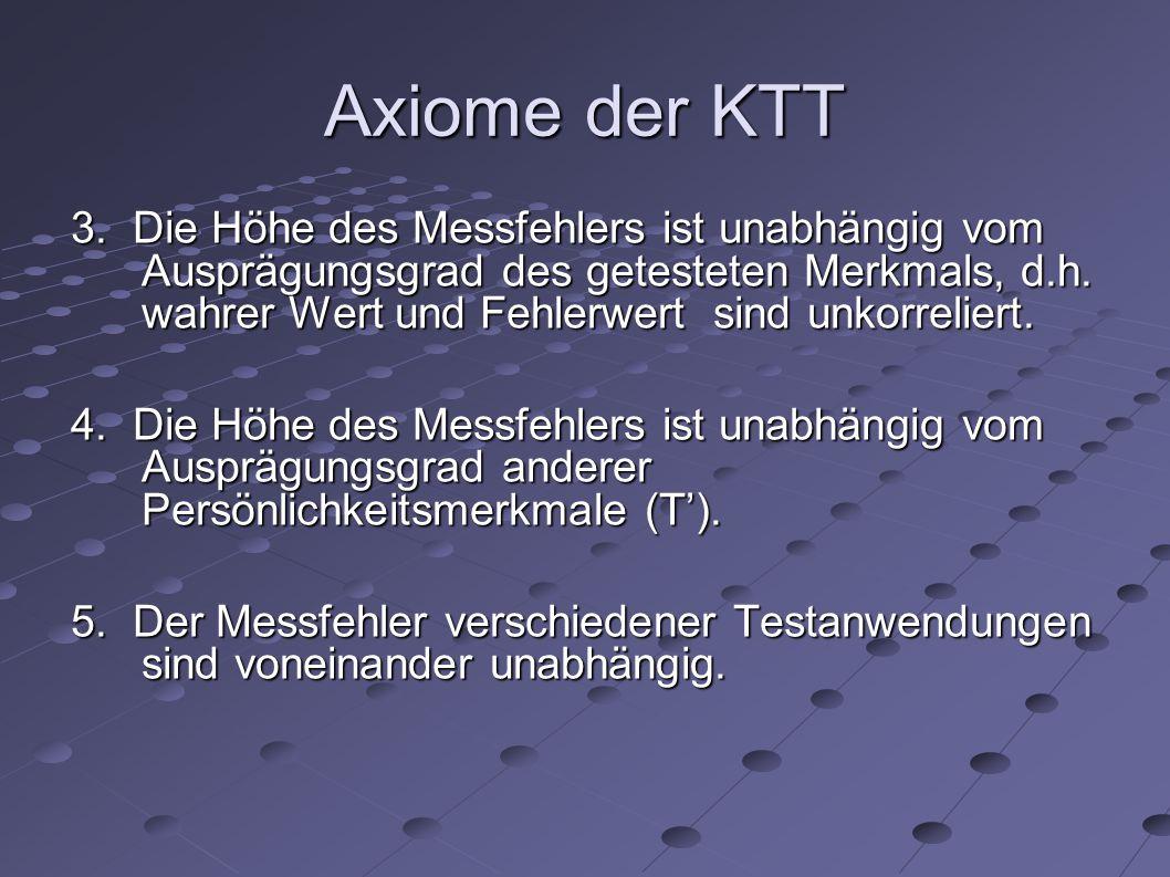 Axiome der KTT